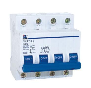 HOMOR Good Quality DZ 47-63 Series 4P miniature Circuit Breaker