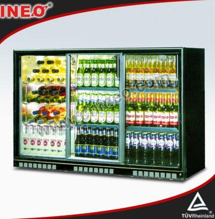 303L Sliding Glass Door Back Bar Fridge/Beer Bottle Fridge/Bar Fridge With Glass Door