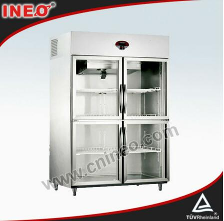 1000L Two Door Stainless Steel Commercial Beverage Cooler/Upright Beverage Cooler/4 Door Beverage Cooler