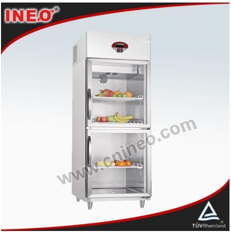 Upright Stainless Steel 2 Doors Beverage Cooler/Retail Beverage Cooler/Commercial Beverage Cooler