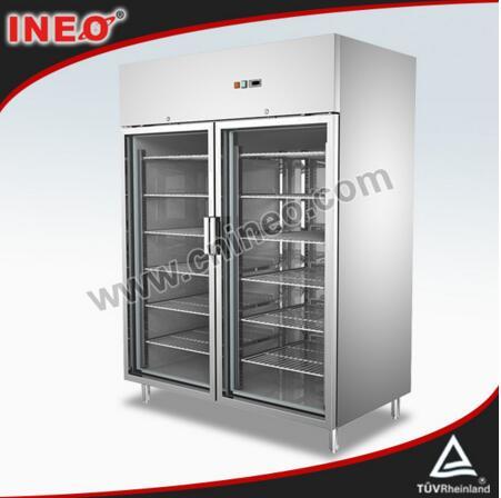 1285L Vertical Glass Door Freezer/Glass Door Freezer Display Cabinets/Upright Glass Door Freezer