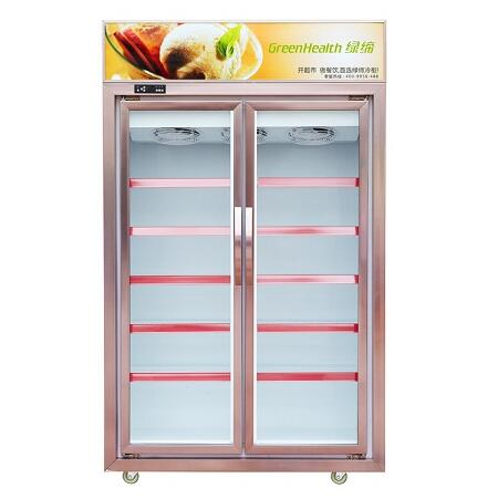 Frozen food commercial supermarket freezer/sea food display counter cabinet freezer