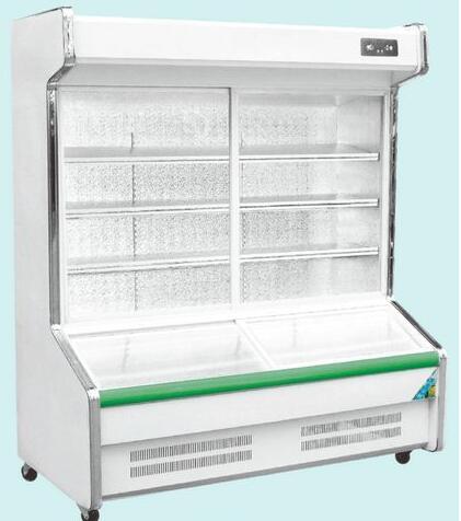 glass door frige freezer for hotel supermarket freezer and chiller