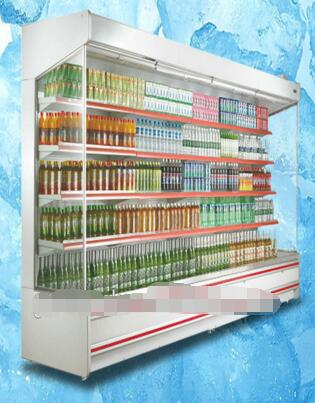 Upright supermarket freezer