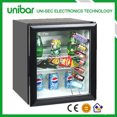 Glass door mini bar, glass door mini fridge, glass door mini refrigerator 40L (USF-38)