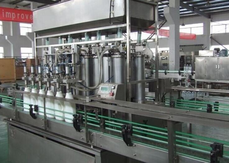 SD-GZJ Automatic liquid detergent filling production line with CE