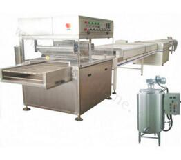Chocolate coating machine