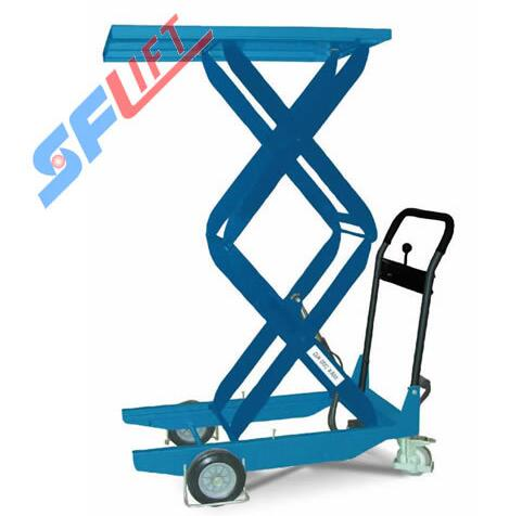 CZD 203 Series Mobile Manual Hydraulic Scissor Lift Table Trolley