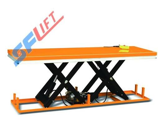 HW2000D Paralleled Tandem Scissors Electric Hydraulic Lift Table