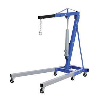 2T engine crane folding hydraulic lift for car washing maintenance equipment