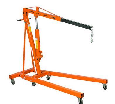 ISO9001:2008 2 ton hydraulic hoist foldable shop engine crane