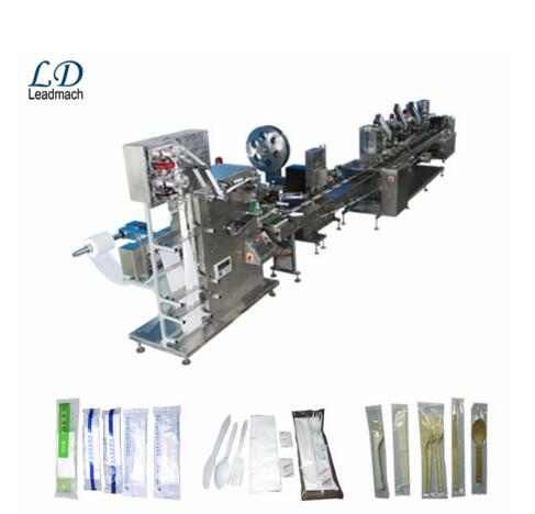 CE Certification automatic plastic tableware flow wrapping machine