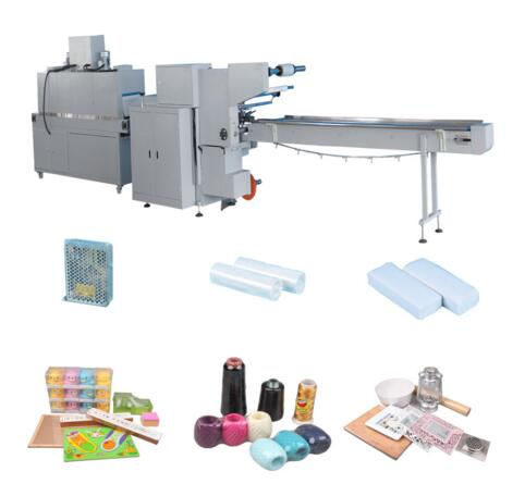 China Manufacturer Automatic Tea Box Shrink Flow Wrapping Machine