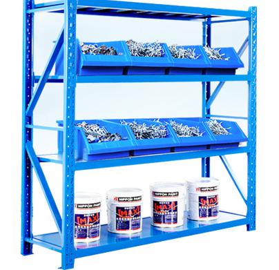High Quality Warehouse Storage Metal Light Duty Shelf Storage Shelving Racking For Sale