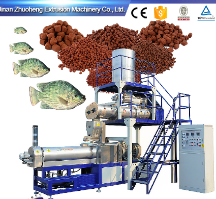 extrusion fish feed making machinery