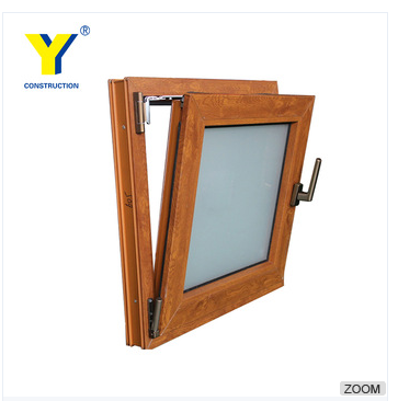 Meet Australia standard AS2047 Aluminum wood grained with hinges tilt and turn window