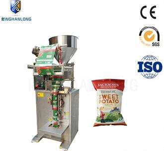 KL-100 micro-electronic weighing potato chips low cost pouch packing machine