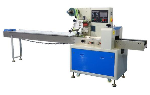 Low price pillow packaging machine for potato chips with tray