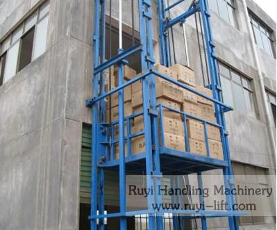 German quality outside/inside electric hydraulic freight elevator