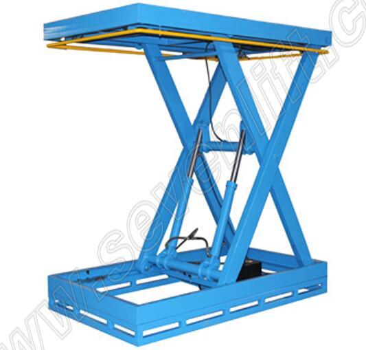 Shandong SevenLift 1 ton load capacity plywood hydraulic scissor lift table
