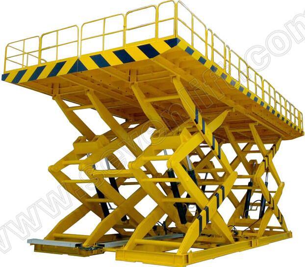 SevenLift large scissor cargo lift platform dimension specification