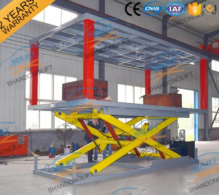 Double level hydraulic scissor car lift with CE Certification