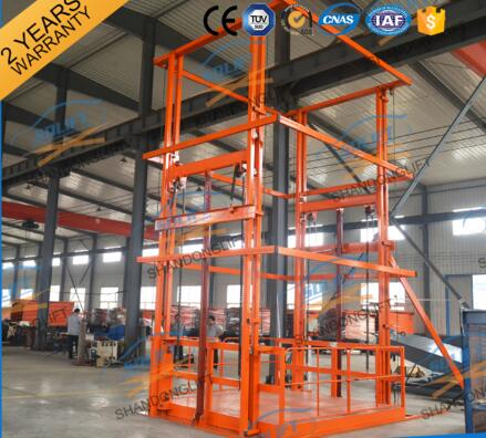 China customized hydraulic vertical cargo elevator with CE
