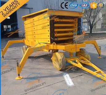 Hydraulic fixed scissor lift table for lifting cargo /aerial working platform