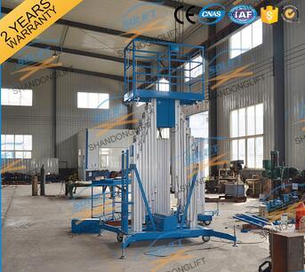 YBC0.2-12 Aluminium portable double mast man lift work lift platform