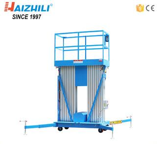 10m Lifting Height Double Masts Aluminum Alloy Elevating Aerial Work Platform