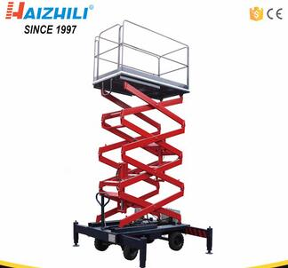 Aerial lift scaffolding four wheels mobile scissor lifting machine