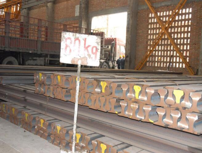Hot Sale 63.69kg/m Weight Crane Steel Track