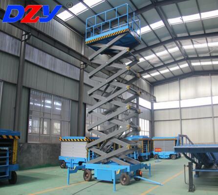 CE Certificate 320 kg manual mobile hydraulic scissor lift platform
