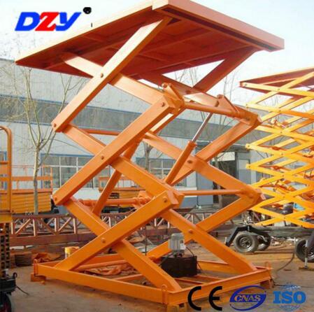 SGJ Series 1-30 ton 3kw 1000kg load hydralic scissor lift platform