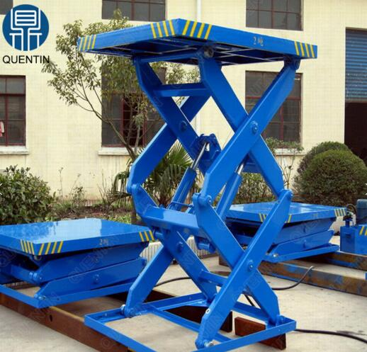 Stationary hydraulic indoor scissor lift platform factory direct sale