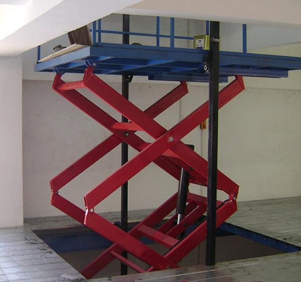 QTSJZ Warehouse stationary scissor cargo lift platform for sale