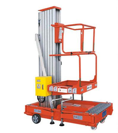 Portable aluminum hydraulic lifting table vertical one man equipment