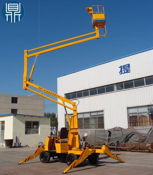 GTZ-9B Series Crank arm scissor lift platform with the diesel engine
