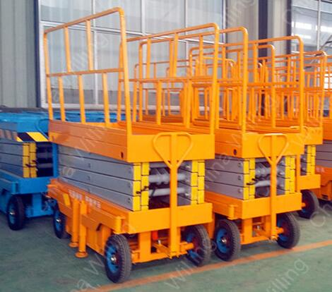 WLY0.3-16 Electric propelled scissor lifting platform for aerial work