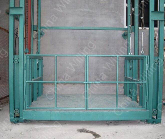 WLL2.0-4.5 Standard Guide rail freight elevator lift with cheap price