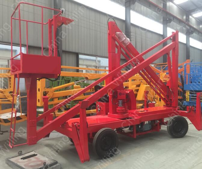12m self-propelled articulating boom lift self-working cherry picker