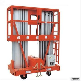 Double Mast Aluminium Hydraulic Aerial Lift Equipment Platform