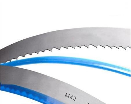 Vertical metal cutting band saw blade