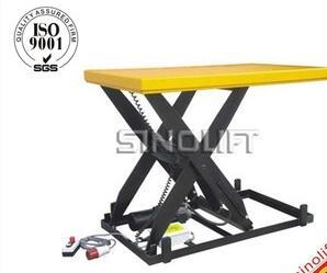 Sinolift HIW Power Stationary Electric Platform Hydraulic Scissor Lift Table