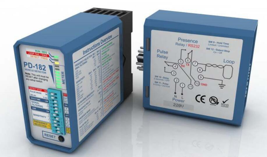 PD-182 Single Channel Vehicle Loop Detector