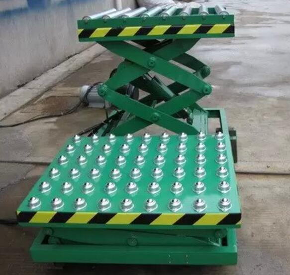 The ball fixed-type hydraulic rolling ball type lifting platform