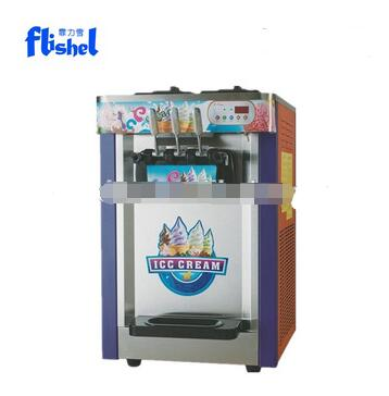 22L commercial 3 flavors table top used italian soft serve ice cream machine