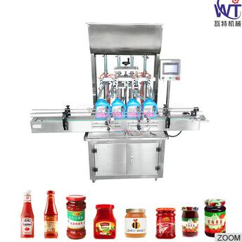 Quality Guaranteed Automatic Sauce Bottle Filler Machine