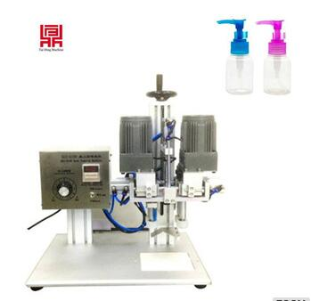 China hot sale desktop capping machine/pump head spray bottle locking machine