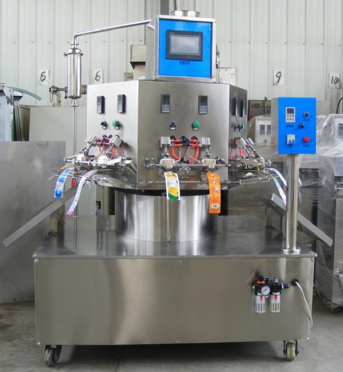 HF-PZD-C inflatable Bag rotary filling and sealing machine